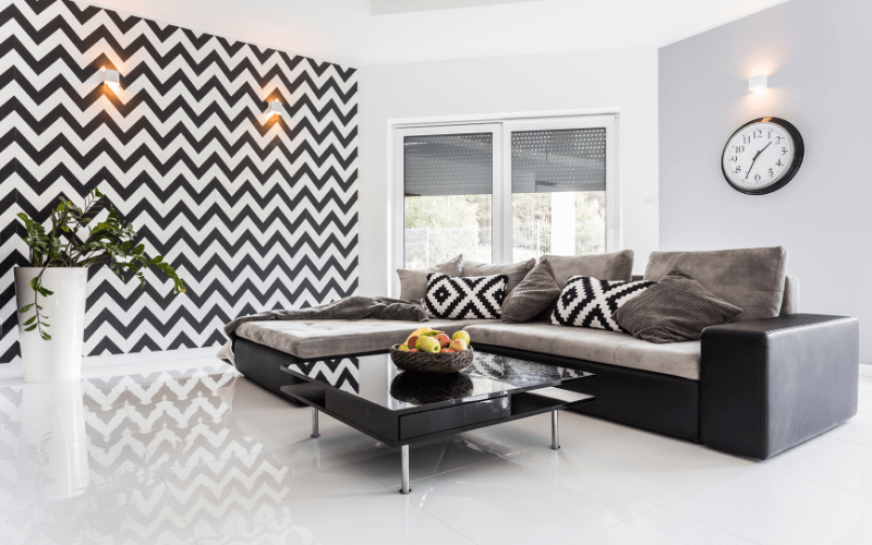How to Decorate a Living Room with Tile Floors?
